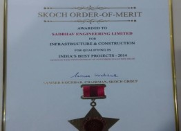 Skoch Award – India's Best Projects for the Year 2014