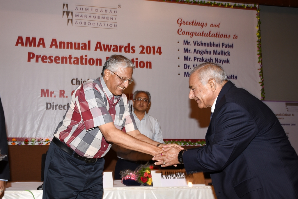 Outstanding Entrepreneur of the year 2014 at AMA Annual Awards