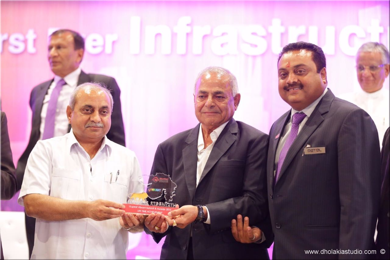 Life Time Achievement Award by Gujarat Contractors Association